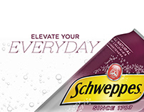"Schweppes ""Elevate Your Everyday"" Site Design"