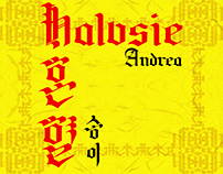 HALVSIE/혼 혈 TYPEFACE