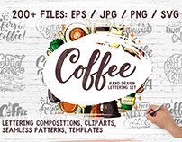 Coffee - Lettering & Cliparts