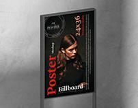 Advertising 24x36 Poster Mockup Free