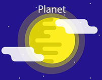 Simple planet art