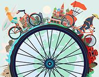 """Momentum Magazine - """"Bike around the world"""" commission"""