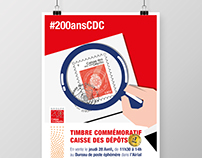 La Poste x CDC : 200th anniversary stamp