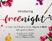 new script brush font freenight