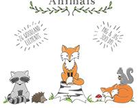 Woodland animal clipart