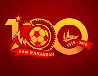 Logo 100 Tahun PSM Makassar