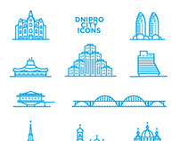 Dnipro city icons