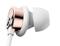 Zip Buds In-Ear Headphones 3D Product Renderings