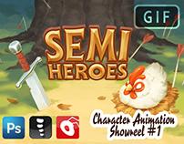 2D Animation - Semi Heroes #1