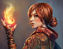 Portrait of Triss - Witcher Fan Art