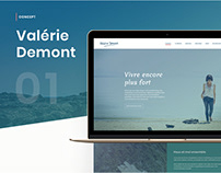 Valérie Demont | Branding | Website | UX/UI
