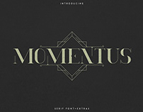 Momentus serif font + Extras. Free font included