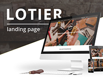 Lotier landing page