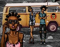 Taxi Photo & illustration Fusion
