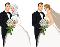 convert vector / Hijab