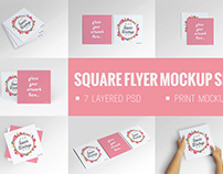 Square Flyer Mock-Up Set