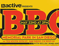 BBQ Event Flyer for Active Ride Shop