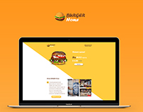 Landing page for Burger Home