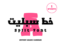 Split Arabic Font-خط سبليت المجاني