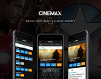 CINEMAX mobile first website & Kiosk concept