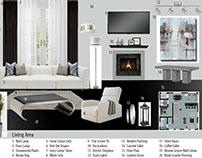 Mood Board Living Room Edwardian Architecture Design