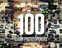 100 Clean Photo Openers - Logo Reveal Pack -
