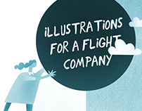 Illustrations for a flight company