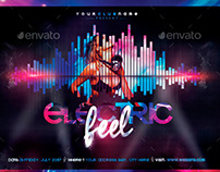 Electric Feel Flyer Template