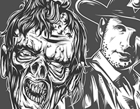 Various skulls & zombies