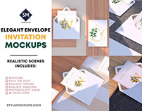 Elegant Envelope Invitation Mockup