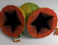 Empaque Candy Fruit sabor Lechoza | Diseño 3D