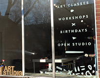 Sign Painting for Hatch Art Studio