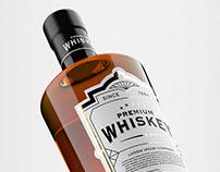 Whiskey Bottle Mockup Pack