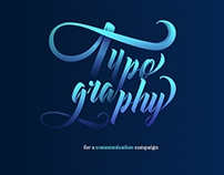 Typography for a communication campaign