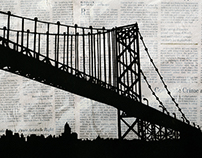 Paper Cutout Bridge