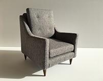 Grey Milo Side Chair - Model B 1:6 Scale