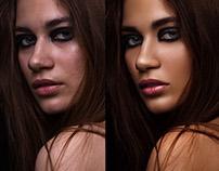 Retouch before/after
