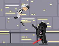 Rebel vs Darth Vader - Star Wars fan gif