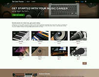 Music instrumental beat website layout