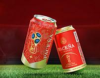 Paceña Beer World Cup Packaging