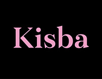 Kisba – a sharp and soft typeface