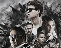 Baby Driver poster for china