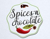 Logo blog de cuisine spices 'n chocolate par loolye