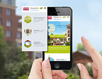 Adaptive website for a residential complex Opalikha O3