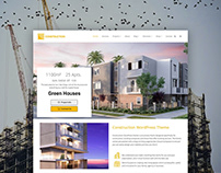 Construction WordPress Theme - Product Front-Page