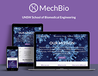 UNSW MechBio Website Design