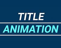Title Animation