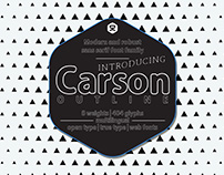 Carson Outline | sans serif typeface