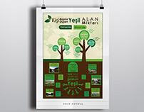 The amounts of green space - İnfographic Design -OD