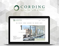 Cording website mockup
